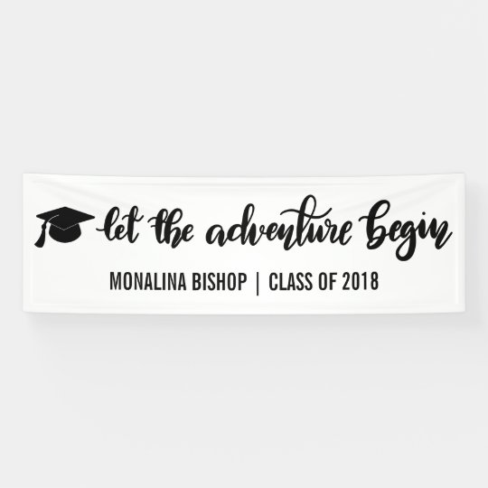 Let The Adventure Begin Handwritten | Graduate Banner