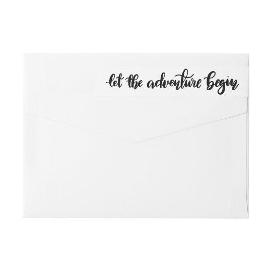 Let The Adventure Begin Handwritten   Graduate Wrap Around Label