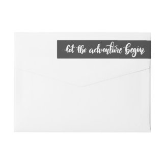 Let The Adventure Begin Handwritten | Graduate Wrap Around Label