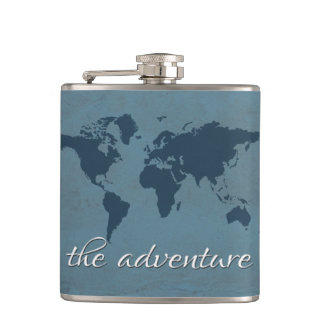 Let the adventure begin hip flask