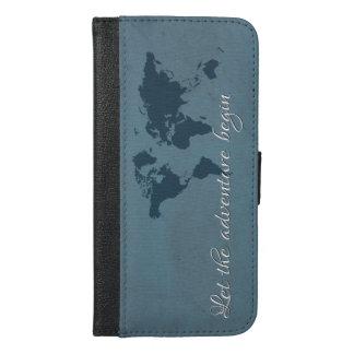 Let the adventure begin iPhone 6/6s plus wallet case