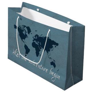 Let the adventure begin large gift bag