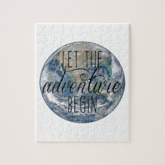 Let the adventure begin Mug, Quote Jigsaw Puzzle