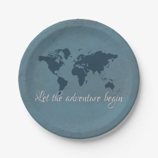 Let the adventure begin paper plate