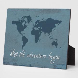 Let the adventure begin plaque