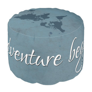 Let the adventure begin pouf