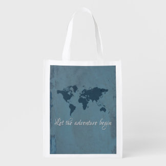 Let the adventure begin reusable grocery bag