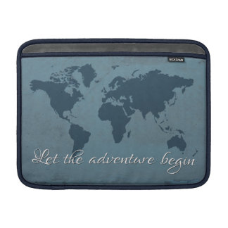 Let the adventure begin sleeve for MacBook air