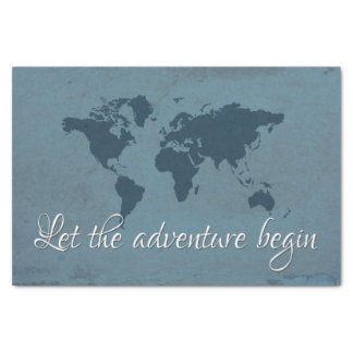 Let the adventure begin tissue paper