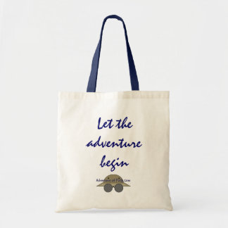 Let the adventure begin tote bag