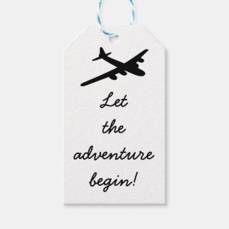 Let the adventure begin Travel Theme Gift Tags Pack Of Gift Tags