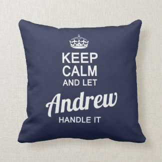Let the Andrew handle it! Throw Pillow