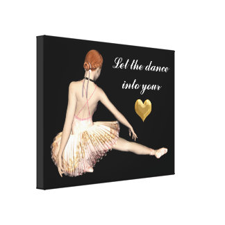 Let The Dance Into Your Heart Canvas Print