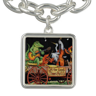 let the good times roll mardi gras charm bracelet