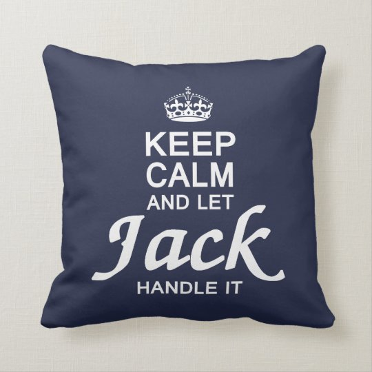 Let the Jack handle it! Throw Pillow
