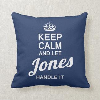 Let the JONES handle It! Throw Pillow