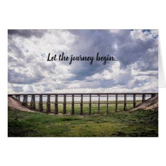 """Let the journey begin..."" card"