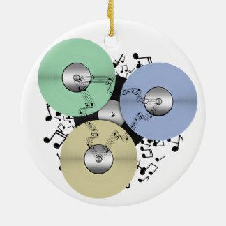 Let the Music Flow (Reel to Reel & Vinyl Record) Ceramic Ornament