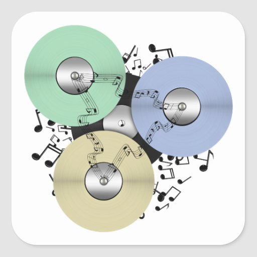 Let the Music Flow (Reel to Reel & Vinyl Record) Stickers