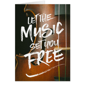 Let the Music Set You Free Musician Photo Template Card