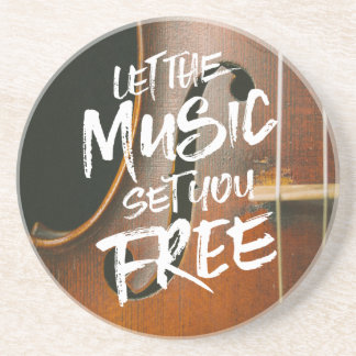 Let the Music Set You Free Musician Photo Template Coaster