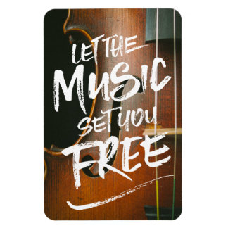 Let the Music Set You Free Musician Photo Template Magnet