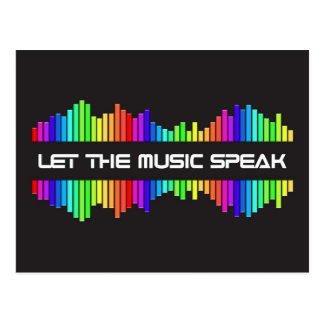 Let The Music Speak Postcard