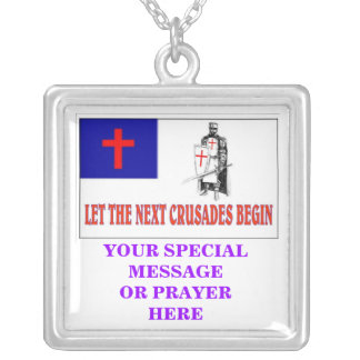 LET THE NEXT CRUSADES BEGIN, YOUR SPECIAL MESSA... SILVER PLATED NECKLACE