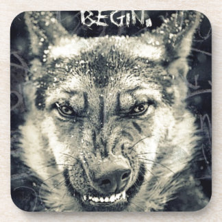 let the night shift beginart beverage coasters