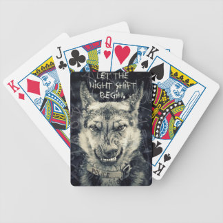 let the night shift beginart bicycle playing cards