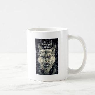 let the night shift beginart coffee mug