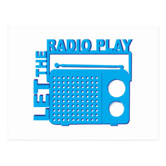 Let the Radio Play Postcards