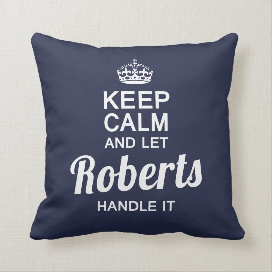 Let the Robert handle it! Throw Pillow