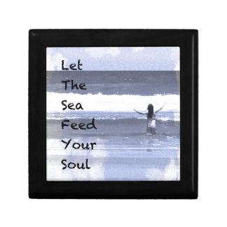Let The Sea Feed Your Soul Trinket Box
