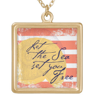 Let the Sea Set You Free Gold Plated Necklace