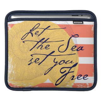 Let the Sea Set You Free iPad Sleeve