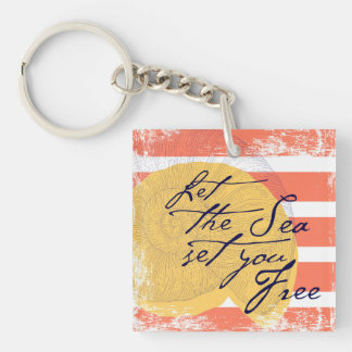 Let the Sea Set You Free Keychain