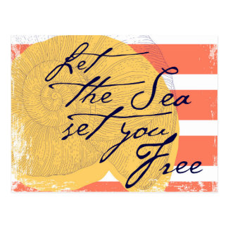 Let the Sea Set You Free Postcard
