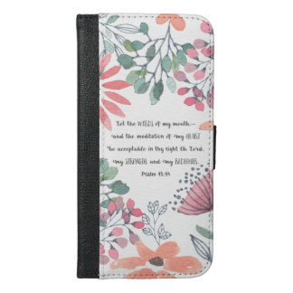 Let the Words of my Mouth - Ps 19:14 iPhone 6/6s Plus Wallet Case