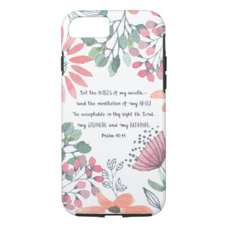 Let the Words of my Mouth - Ps 19:14 iPhone 8/7 Case
