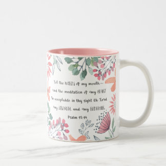 Let the Words of my Mouth - Ps 19:14 Two-Tone Coffee Mug