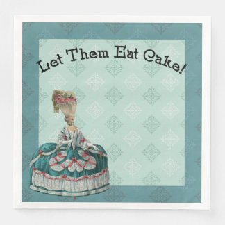 Let Them East Cake Paris Fashion Paper Dinner Napkin