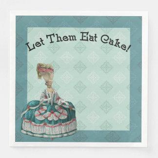 Let Them East Cake Paris Fashion Paper Napkin