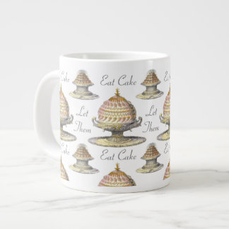 Let Them Eat Cake French Pastries - Vintage Style Large Coffee Mug