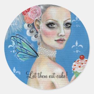 Let them eat cake Marie Antoinette Classic Round Sticker