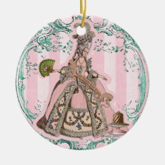 Let Them Eat Cake Marie Antoinette Pink Ornament