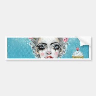 Let them eat cake mini Marie Antoinette cupcake Bumper Sticker