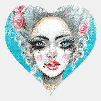 Let them eat cake mini Marie Antoinette cupcake Heart Sticker