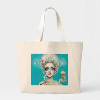 Let them eat cake mini Marie Antoinette cupcake Large Tote Bag