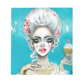 Let them eat cake mini Marie Antoinette cupcake Notepad